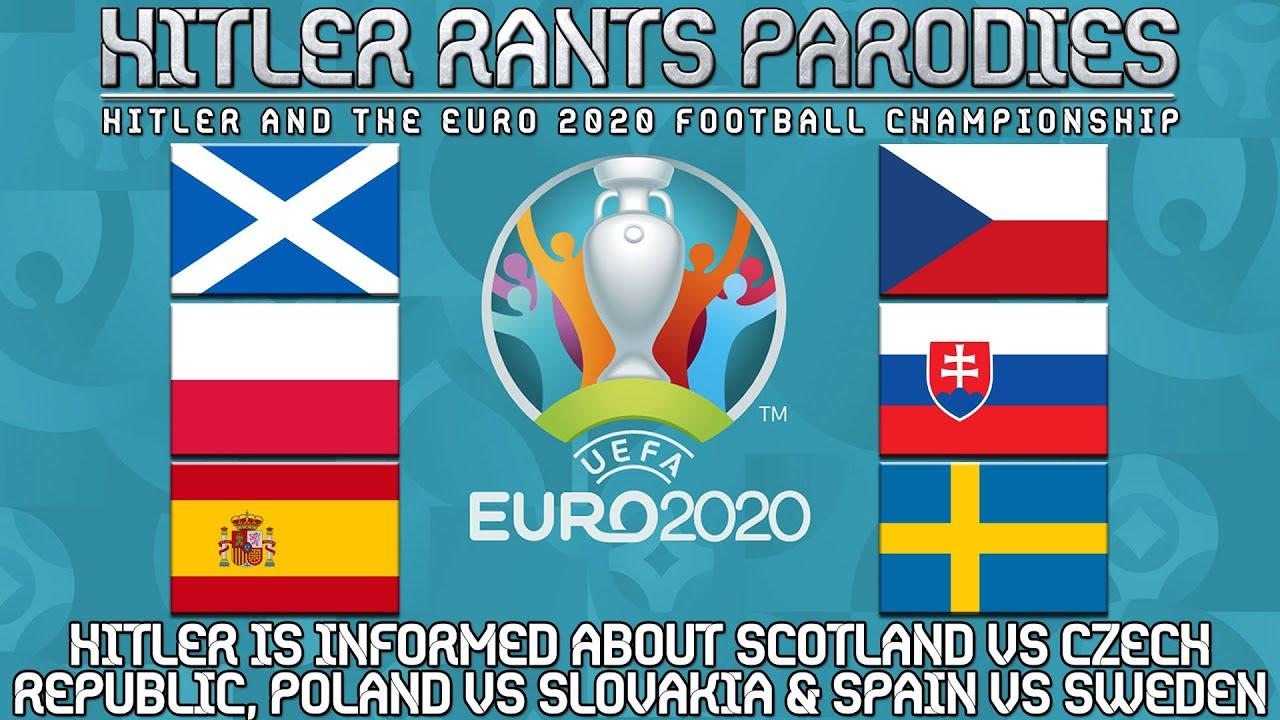 Hitler is informed about Scotland vs Czech Republic | Poland vs Slovakia | Spain vs Sweden