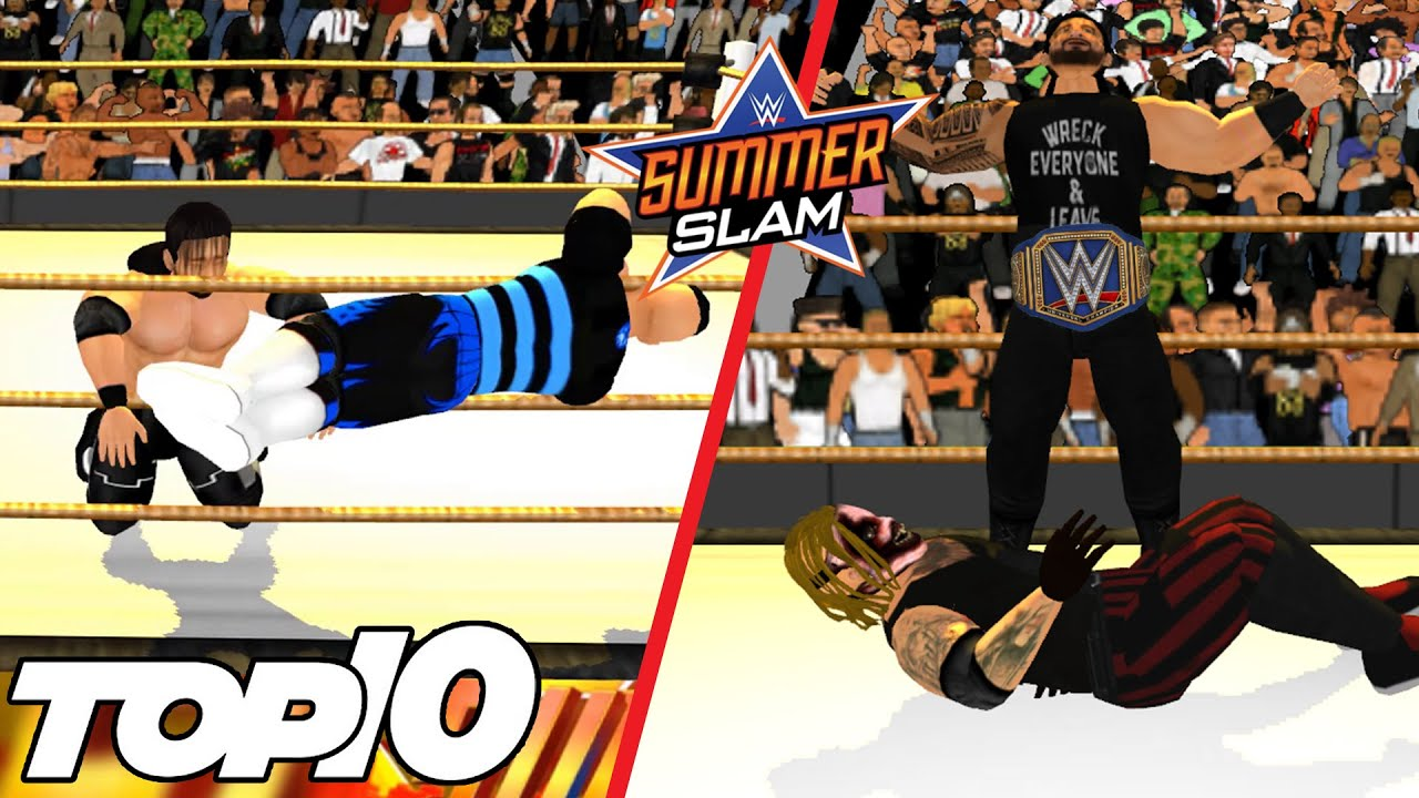Top 10 WWE SummerSlam 2020 Moments | WR3D 2K20