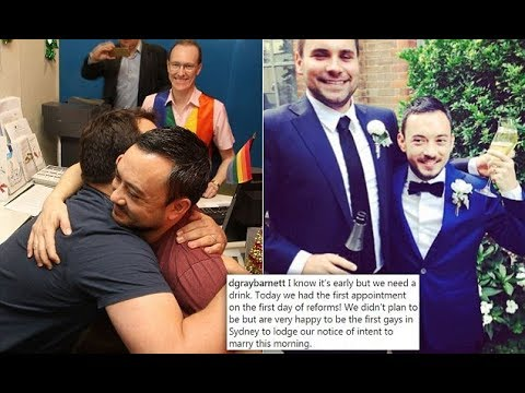 First Gay Couple Registers Intention To Marry In Sydney