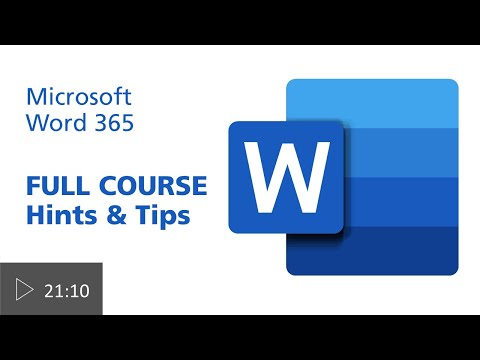 Word Hints Tips Full Course