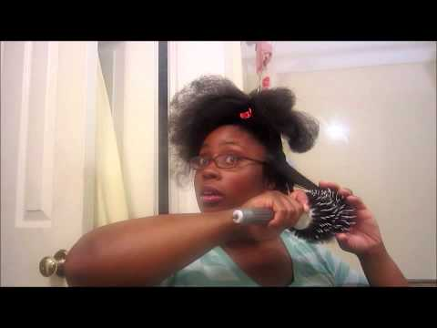 How I Blow Dry My 4a/4b Hair With a Round Brush