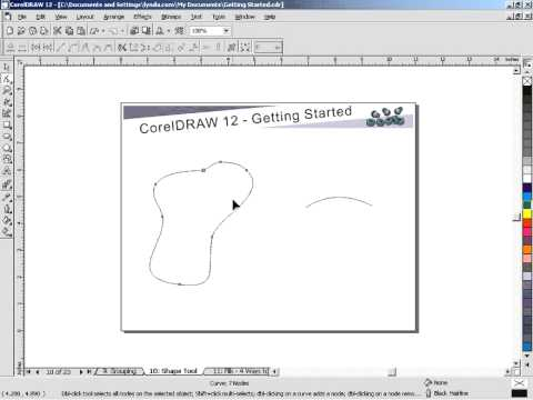 How To Edit The Nodes In Corel Draw Editing Nodes Corel