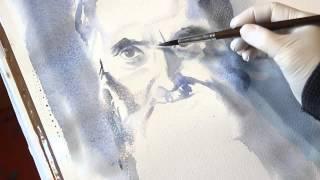 Как рисовать портрет, лицо - Курсы рисования Артакадемия(Курсы рисования портрета в акварельной технике очень тонкое мастерство. Мы представили ускоренный вариант..., 2015-05-04T20:10:19.000Z)