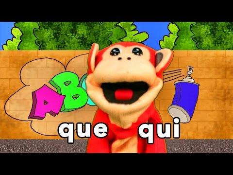 Sílabas que qui - El Mono Sílabo - Videos Infantiles - Educación para Niños #