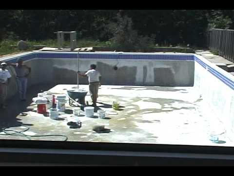 Swimming Pool Refinishing - YouTube