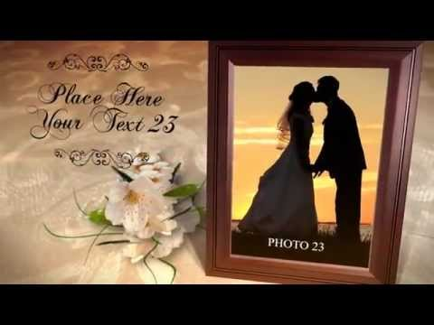 romantic wedding invitation photo album after effects video template youtube