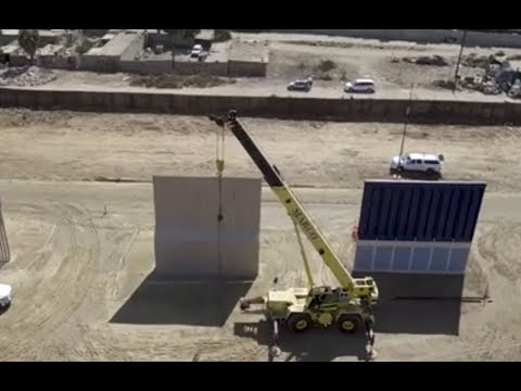 AMAZING: Drone Footage on Border Wall Prototype Construction- Update