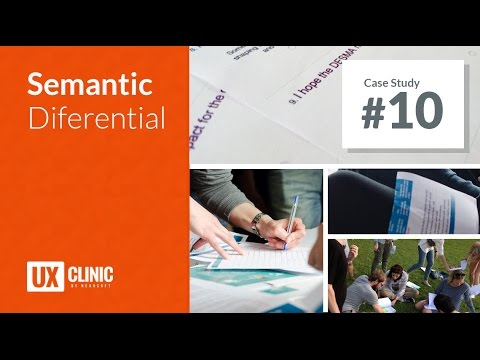 UX Clinic Season02 Episode 10 — Semantic Differential