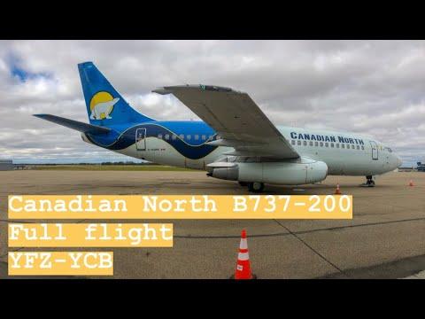✈ Canadian North  B737-200   Yellowknife - Cambridge Bay   Full Flight ✈