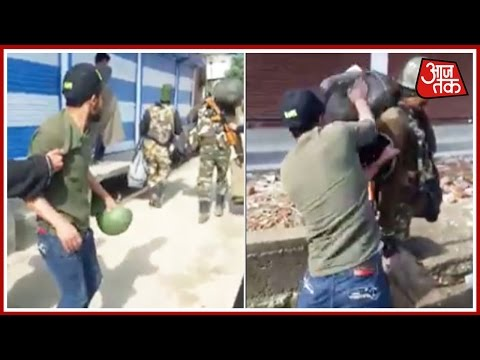 Khabardaar: CRPF Jawan Being Kicked By Civilian In Kashmir Is Going Viral