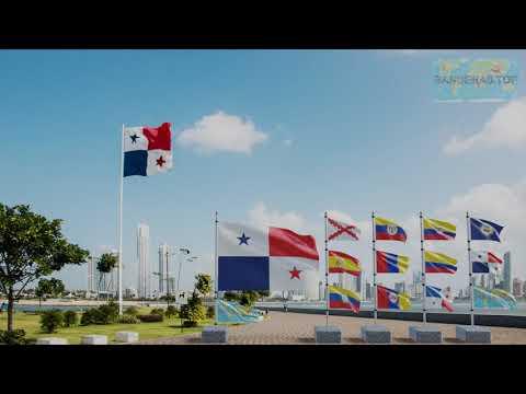 Bandera e himno Panamá | Panama flags and anthem