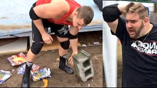 wwe toys get destroyed in crazy roid rage freakout gts supercard pro wrestling event