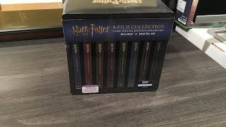 Harry Potter: Complete 8-Film SteelBook Collection- Blu-ray Unboxing