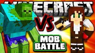 MUTANT ZOMBIE VS GIRLFRIEND - Minecraft Batalha de Mobs - Mutant Creatures e Girlfriend Mods