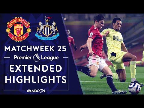 Manchester United v. Newcastle | PREMIER LEAGUE HIGHLIGHTS | 2/21/2021 | NBC Sports