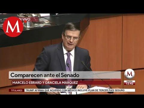 Marcelo Ebrard comparece en el Senado