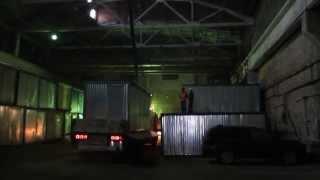 Манипулятор Hino Profia.(Разгрузка блок-контейнера весом 2,5 тонны., 2014-04-02T16:24:23.000Z)