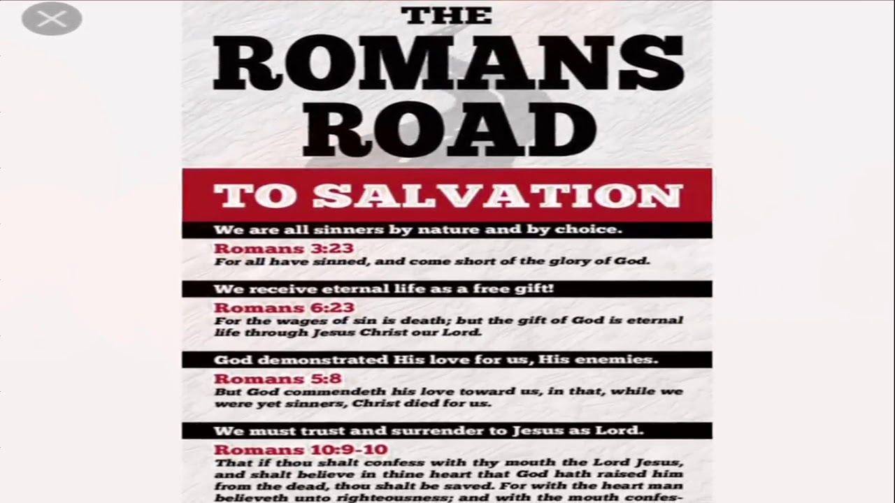 graphic relating to Romans Road Printable known as Romans Highway Toward Salvation Printable Billy Knight