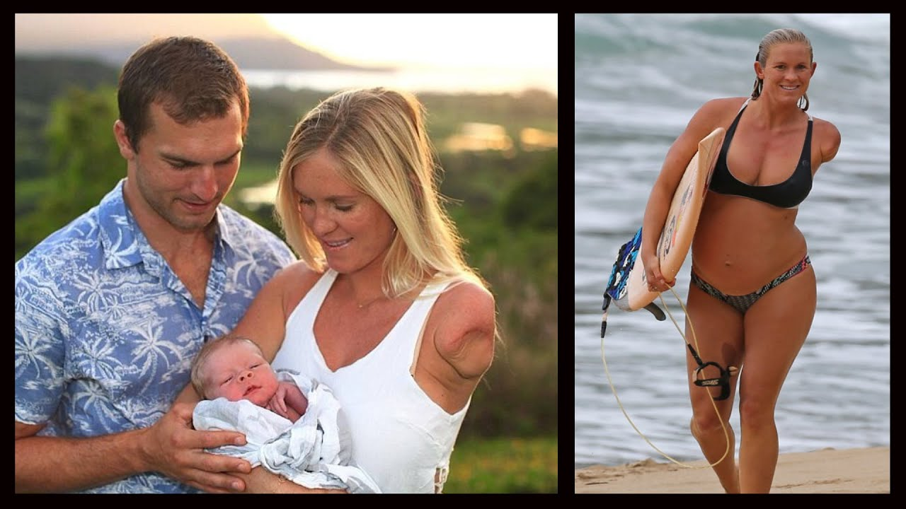 da02413dc2d Shark Attack Survivor Bethany Hamilton Gives Birth To A Son - YouTube