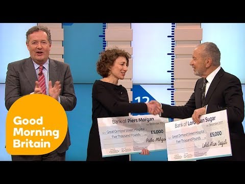 Alan Sugar Goes Head to Head With Piers Morgan for Charity | Good Morning Britain