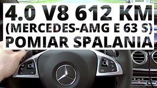 Mercedes AMG E 63 S 4.0 V8 612 KM, AT pomiar zuycia paliwa
