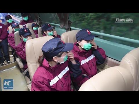 Bidding Farewell: Emotional Medics Leave Wuhan For Home
