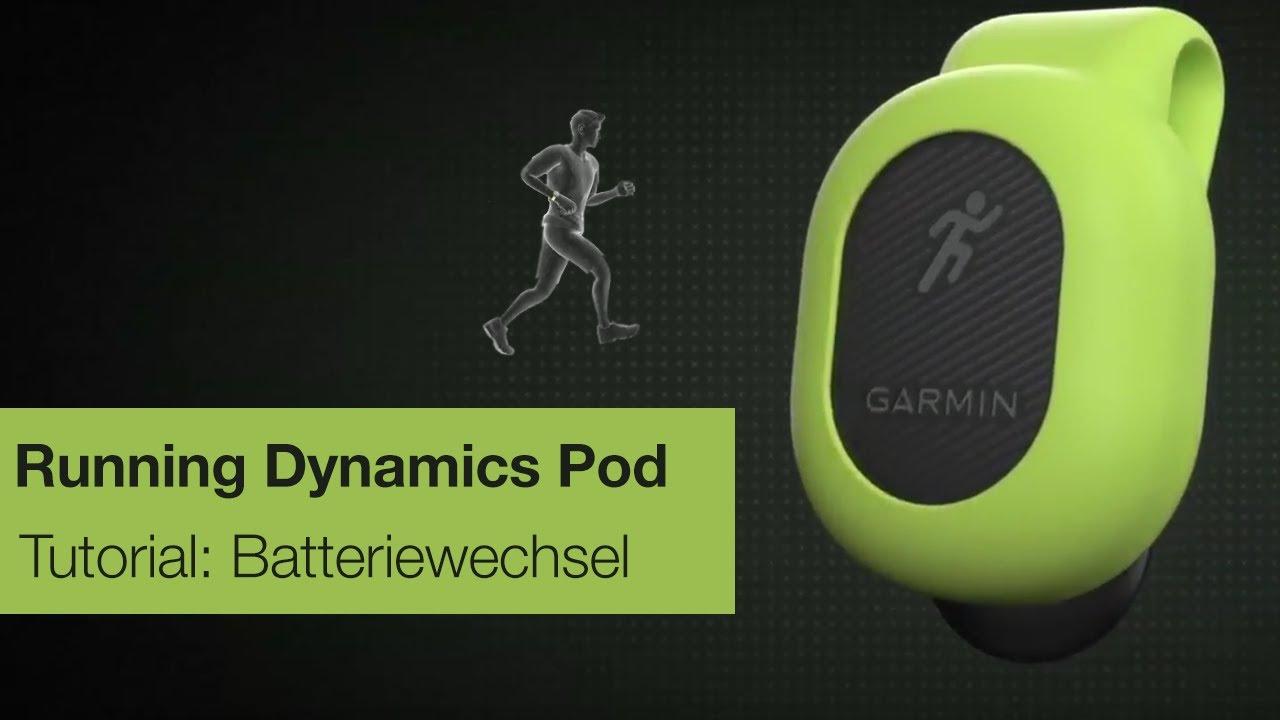 Garmin Running Dynamics Pod Tutorial – Batteriewechsel