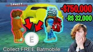 GIVING FANS BATMOBILE & TORPEDO FOR *FREE* RIP $750,000 (32k ROBUX)   Roblox Jailbreak Winter Update