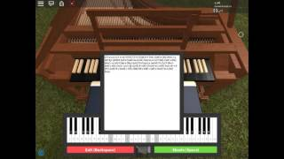 """First time playing """"The Entertainer""""by Scott Joblin! (Roblox Virtual Piano!"""