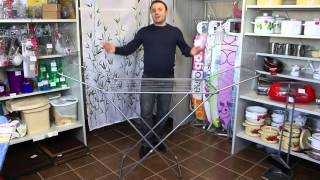 видео Сушилка для белья напольная: как выбрать правильно / Zonavannoi.Ru