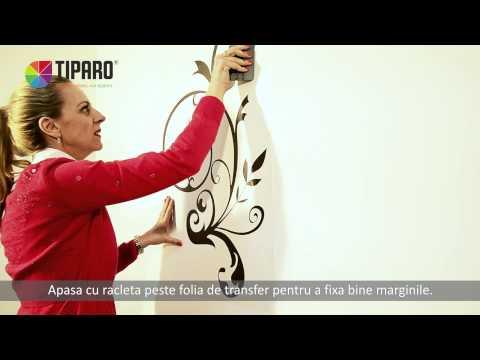 Tutorial amenajari interioare: Cum aplici un sticker de perete cu ceas Tiparo.ro