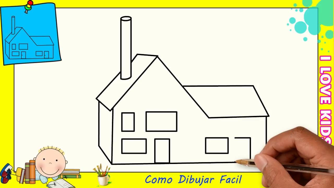Como dibujar una casa facil paso a paso para ni os y principiantes 4 youtube - Casa facil picassent ...