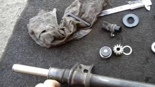 Разборка рулевой рейки SMI Рено Клио2 часть 2