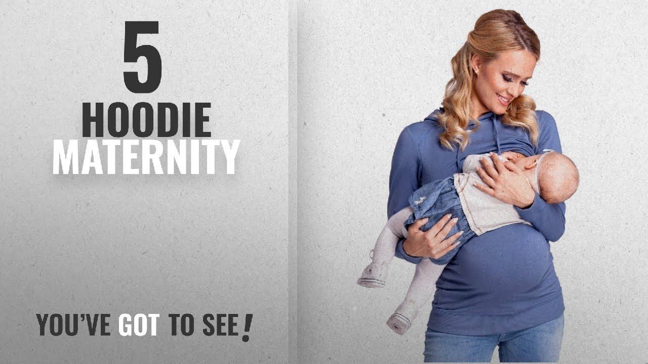 fbe9e372ff4 Top 10 Hoodie Maternity  2018   Happy Mama. Women s Nursing Hoodie ...