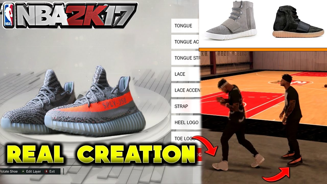 NBA 2K17 HOW TO MAKE EVERY YEEZYS AND WEAR THEM ON PARK EASIEST TUTORIAL  METHOD MYPARK SWAG SUPERIOR