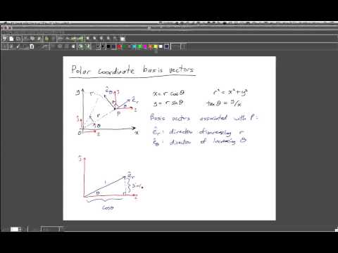 Polar coordinate basis vectors