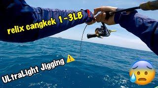 Extreme ULtraLight JIgging II Rod Cangkek 1-3LB ,Biking Kapokkkk.....