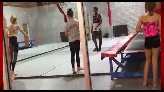 mackenzie ziegler brynn rumfallo and dancemoms girl training tumbling at aldc la
