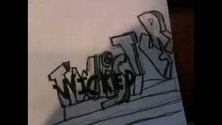 Wicked Twister roller coaster sketch