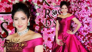Sridevi At Lux Golden Rose Awards 2017 | #LuxGoldenAwards 2017 | Red Carpet 2017