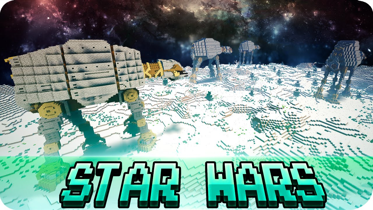 Minecraft - Star Wars Vehicles in Minecraft Cinematics - Maps w/ Download