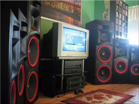 speakers big. big speakers and nice tunes ( pioneer , jbl cerwin vega more l