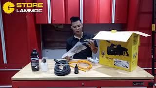 HÀNG MỚI Máy rửa xe áp lực cao HÀNG CHẤT LƯỢNG chính hãng HIROMA DHL-1707