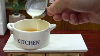 Mini Food  Pudding Tart 食べれるミニチュア プリンタルト