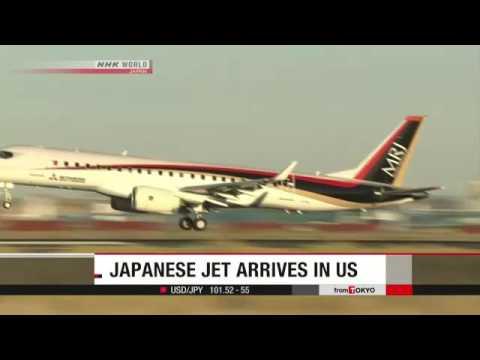 Japanese-made jet arrives in US for flight tests