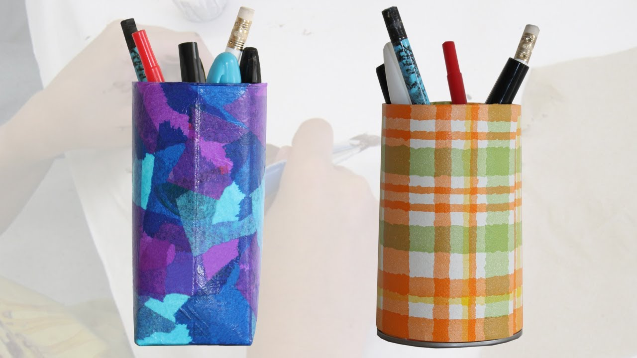 More Pencil Holder Craft Ideas For Kids YouTube