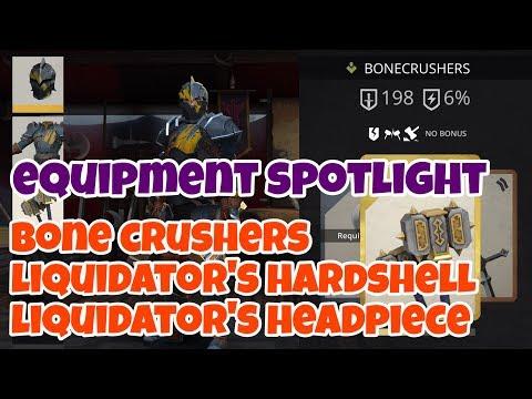 Shadow Fight 3 | Equipment Spotlight | Bone Crushers Liquidator's Hardshell Liquidator's Headpiece