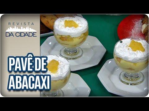 Receita de Pavê de Abacaxi - Revista da Cidade (13/01/17)