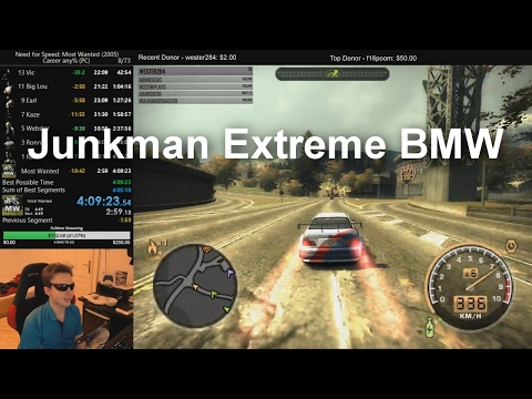 Junkman Upgraded BMW M3 GTR - NFS Most Wanted (See Description for Savefile)