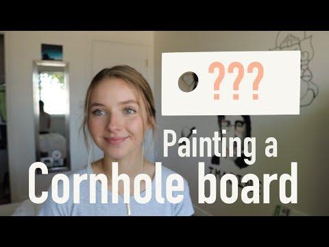Painting a Cornhole Board